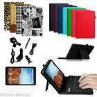 Verizon Ellipsis 8 4G LTE Tablet PU Leather Case Cover Bluetooth Keyboard Stand