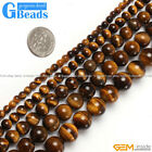 Natural Tiger's Eye Gemstone Round Beads For Jewelry Making Free Shipping 15""