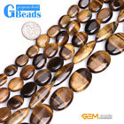 Natural Tiger's Eye Gemstone Oval Beads For Jewelry Making Free Shipping 15""