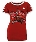 Adidas NBA Women's Chicago Bulls Short Sleeve Vintage Graphic Ringer Tee, Red