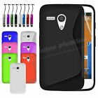 New Gel Silicone TPU Slim Thin Case Cover For Motorola Moto G Free Protector