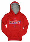 Adidas NBA Youth Boys Washington Wizards Pullover Sweartshirt Hoodie, Red
