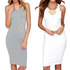 Sexy Women Strench Summer Sleeveless Slim Pencil Party Evening Cocktail Dress