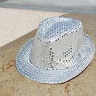 New Brand Sequin Toddler Adult Kids Unsex Fedora Panama Party Paillette Cap Hats