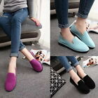Stylish Round Toe Slip On Shoes Suede Casual Moccasins Loafers Comfort Flats