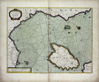 1707 Vintage Wall Map Island Corsica Ligurian Sea Pisa Genoa Largest Sizes