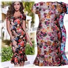 Womens Floral 90's Vintage Ccktail Party Evening  Summer Tartan Wiggle  Dresses