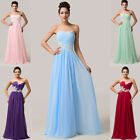 HOMECOMING BEADED Long Chiffon Formal Evening Prom Bridesmaid Dresses Ball Gown