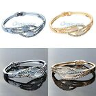 New Fashion Charms Oval Opal Rhinestone Bangle Bracelet For Women