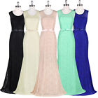 ST Brand LACE Long Formal Prom Bridesmaid Cocktail Party Evening Ball Gown Dress