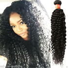 US Ship 3Bundles Black Afro Curly Wave Human Hair Wefts 6A Curls Hair Extension