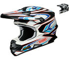 Shoei VFX-W Blockpass Motocross Helmet MX DD Ring Lightweight Adjustable Peak