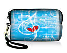 Music Note Soft Case Bag Pouch Cover Fit Digital Camera,Ipod Touch,Apple Iphone