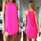 New Sexy Women Sleeveless Party Dress Evening Cocktail Casual Mini Dress White