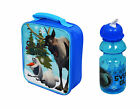 FROZEN DISNEY OLAF & SVEN CHILDRENS SCHOOL CHILDS INSULATED LUNCH BOX BAG BOTTLE
