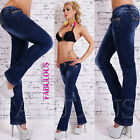Sexy Womens Tight Fit Bootleg Jeans Size 10 12 14 2 4 6 8 Boot Cut Stretch Denim