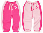 Baby Girls Pink Jogging Pants Fleece Tracksuit Jog Bottoms New Age 6-24 Months