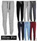Mens Celeb Inspired Slim Fit Drop Crotch Joggers Bottom Cuffed Cotton Trouser***