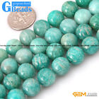 Round Gemstone Russia Amazonite Stone Beads Jewelry Making Loose Beads Strand 15