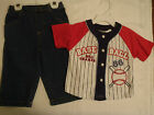 LITTLE REBELS Baby Boys 18 or 24 Month Choice Baseball Shirt Jeans Outfit NWT