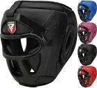 RDX Grill Head Guard Helmet Boxing Martial Arts Gear MMA Protector Kick Training