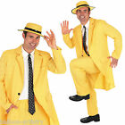 Adult Men's Yellow Suit & Hat Mask Movie Fancy Dress Halloween Costume