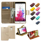 Card Pocket Kickstand Slim Flip Leather Wallet Case Cover For LG G2 / G3 / G4
