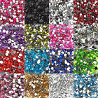 1000 Crystal Flat Back Acrylic Rhinestones Gems 9 Size(2mm to 10mm) UK Seller