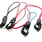 4mm BUNGEE ROPE ELASTIC SHOCK CORD HOOKS & LOOPS - RED BLUE BLACK & BLUE SAILING