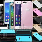 Aluminium Metal Bumper Frame+PC Acrylic Case Cover For HUAWEI Ascend P8 Lite 5.0