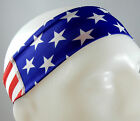 NEW! Super Soft American Flag US Flag USA Headband Sports Running Workout Hair