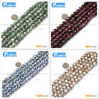 """10mm Round Faceted Gemstone Football Color Fire Agate Loose Stone Beads 15"""""""