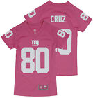 NFL Football Youth Girls New York Giants Victor Cruz # 80 Player Jersey - Pink