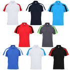 New Mens AWDis Cool Contrast Polo With Buttons & Raglan Sleeve Design Size S-2XL