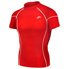 Take Five 036 Mens Skin Tight Compression Base Layer Red Short Sleeve Shirt