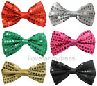 SEQUIN BOW TIE DANCE SHOW THEATRE PRODUCTION SEQUINED DICKY BOW 6 COLOURS