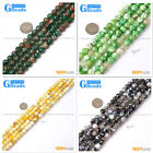 """8mm Round Faceted Natural Gemstone Fire Agate Stone Loose Beads Strand 15"""""""