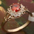 A1-R3056 Simulated Gemstone Fashion Ring 18KGP Swarovski Crystal Size 5.5-10