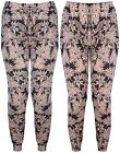 Womens New Plus Size Floral Leaf Print Ladies Ali Baba Harem Long Pants Trousers