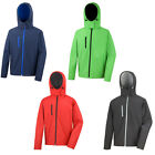 Mens Result Core Soft Fabric Front Zip & Chest Pocket Hooded Jacket Size S-3XL