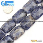 "Natural Sodalite Jasper Gemstone Beads For Jewelry Making 15"" Coin Oval Assorted"
