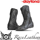 DAYTONA SECURITY EVO III 3 BLACK 2 PIECE RACE TRACK SPEC MOTORCYCLE BOOTS