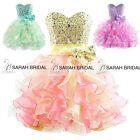 Short Ruffled Prom Party Dresses Homecoming Evening Sweet 16 Ball Gown Plus Size