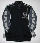 Authentic Dodge Ram  Embroidered Cotton Jacket JH Design Black NEW