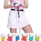 7 Colors Women's Golf Cotton Pleated Skorts Outdoor Sports Safety Skirts S M