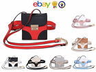 Girls Womens Ladies small square 2-tone bum bag shoulder messenger crossbody bag