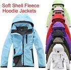 Outerwear Ladies Womens Soft Shell Coats Heavy Fleece Hoodie Jackets