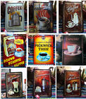 COFFEE Signs metal vintage art bars cafes home Wall decoration iron painting