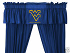 West Virginia Mountaineers Drapes Curtains & Valance Set with Tie Backs