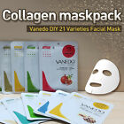 Vanedo 21pcs Various Collagen FACE Mask Sheet facial Skin Care Pack FROM SYDNEY